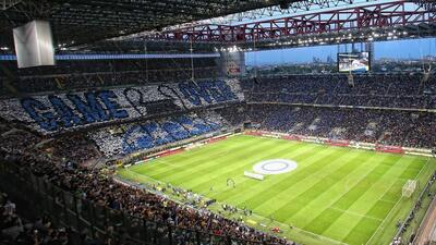 """Con un """"Game Over"""" se burla la afición del Inter de la Juventus"""