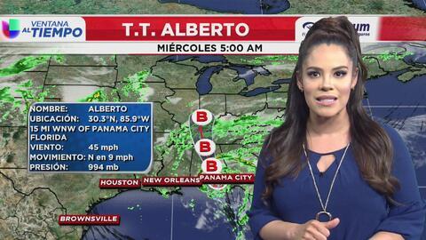 Ventana al Tiempo: Posibilidad de lluvias este martes en la tarde debido a la tormenta subtropical Alberto