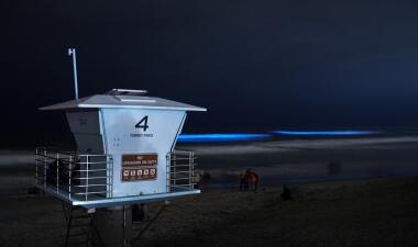 En fotos: Las asombrosas olas bioluminiscentes regresan a esta playa del sur de California