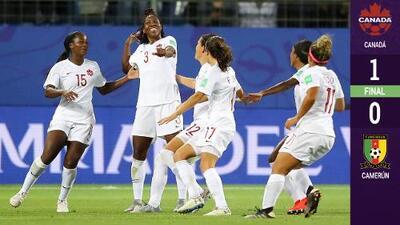 Canadá comenzó con el pie derecho y derrotó a Camerún
