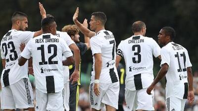 Un crack: en apenas ocho minutos, Cristiano Ronaldo anotó su primer gol con la Juventus