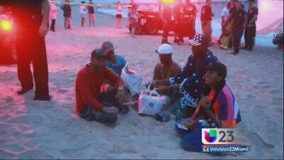 Seis balseros cubanos llegan a costa de Florida tras nueve días en el mar