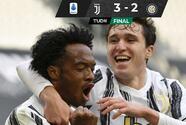 Juve consigue triunfo agónico sobre Inter y aún pelea Champions