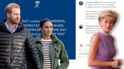 Meghan Markle y el príncipe Harry le rinden tributo por primera vez en Instagram a la princesa Diana