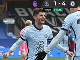 Christian Pulisic hizo 'doblete' en el triunfo del Chelsea ante el Crystal Palace