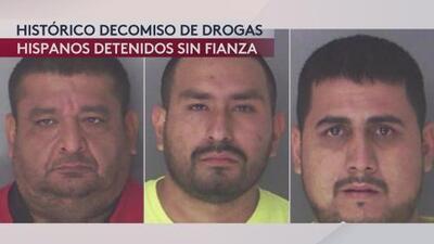 Parada de tráfico termina con histórico decomiso de drogas e hispanos tras las rejas