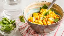 Tofu al curry con garbanzos + Zanahorias al vapor | Reto 28