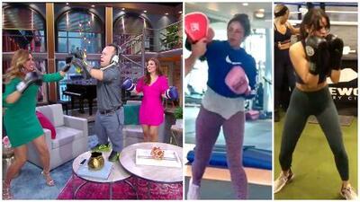 Al estilo de Shakira y Eiza González, La Flaca y Karina Banda lo dan todo en el 'ring' de boxeo