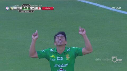 ¡Doblete de Mena! León pone el tercero con un gol histórico