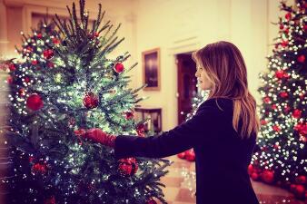 """""""Tesoros estadounidenses"""": el tema de la decoración navideña diseñada por Melania Trump para la Casa Blanca"""