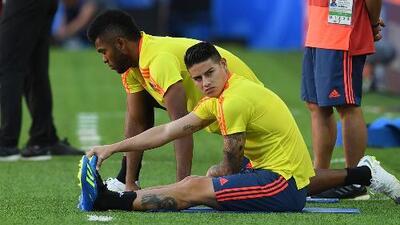 Colombia podría jugar sin James Rodríguez ante Inglaterra