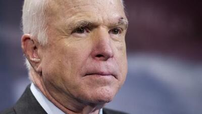 """We weaken our greatness ... when we hide behind walls, rather than tear them down"" - the last words of John McCain"