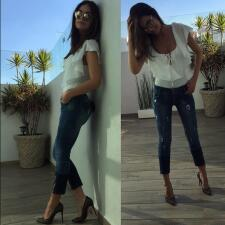 Ximena Navarrete sorprendió por su delgada figura