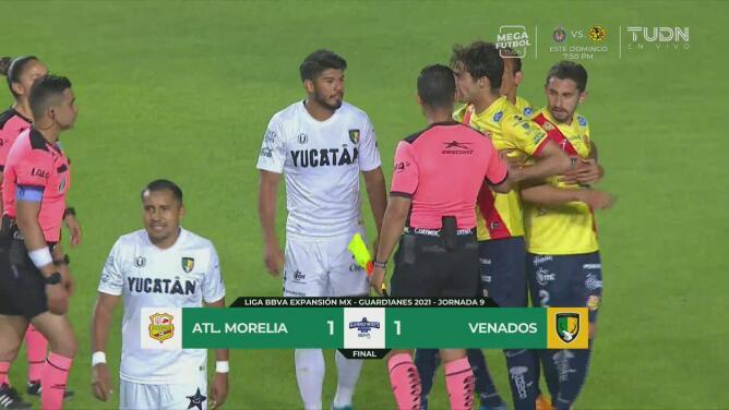 Resumen | Atlético Morelia y Venados igualan 1-1 en la Jornada 9