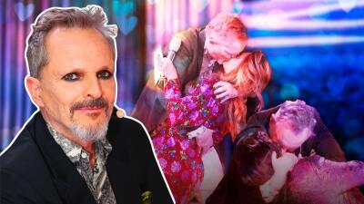 Miguel Bosé se pone romántico y besa a todos en Pequeños Gigantes (Albertano no pudo con la sorpresa)