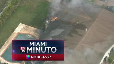 'Miami en un Minuto': una familia hispana logró escapar de las fuertes llamas del incendio registrado en una vivienda