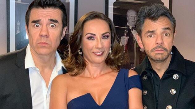Se reencontraron los P. Luche: Eugenio Derbez sorprendió a Consuelo Duval en su show con Adrián Uribe