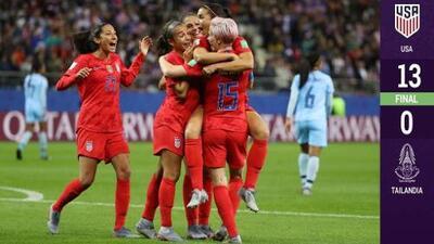 Con show de Alex Morgan,  Estados Unidos golea de forma increíble en debut mundialista