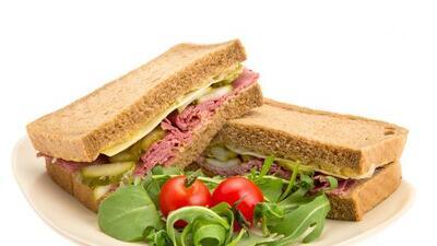 Sándwich de jamón con mozzarella de búfala   Reto 28