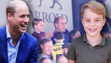 """El príncipe William ve en su hijo George una cualidad que """"definitivamente"""" lo llevaría a ser ídolo"""