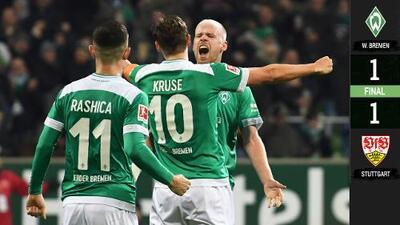 Golazo de Klaasen salvó al Werder Bremen ante el Stuttgart