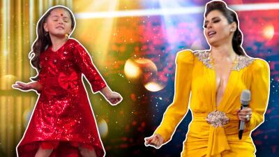 Galilea y Rafaela bailan al ritmo de Daddy Yankee en Pequeños Gigantes