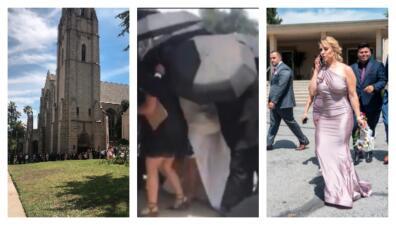 Chiquis se ocultó con paraguas y Lorenzo entró por otro lado: así fue la boda que no vimos