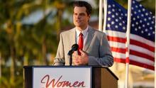 Congresista Matt Gaetz se defiende de acusaciones de presunto tráfico sexual durante un acto de mujeres conservadoras en Florida