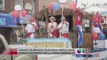 Nada detuvo el tradicional desfile cubano en New Jersey