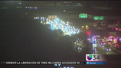 Accidente provocó retrasos en la autopista 405