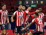 Atlético de Madrid viene de atrás para vencer al Valencia
