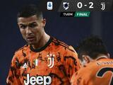 La Juventus sufre, pero gana como visitante a la Sampdoria