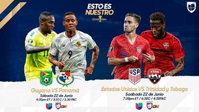 Estos son los horarios y partidos de este sábado en la Copa Oro