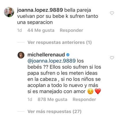 Hubo más seguidores de la actriz quienes le pidieron regresara con el padre de su hijo para evitar que el pequeño Marcelo sufriera por el hecho de que sus padres no estuvieran juntos.