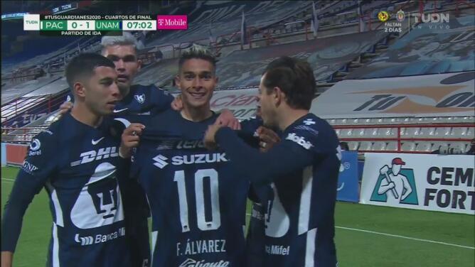¡Zapatazo y gol! Favio Álvarez marca el 1-0 sobre Pachuca