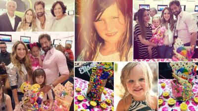 Gabriel Soto celebró el cumpleaños de sus hijas en una divertida fiesta