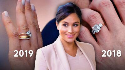 El anillo de compromiso de Meghan Markle luce distinto al que le dio Harry (y esta podría ser la razón del cambio)