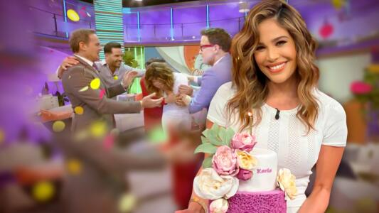 Karla Martínez se conmovió hasta las lágrimas con tanto amor en su cumpleaños 45