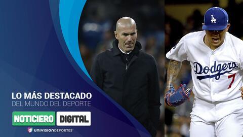 Noticiero Digital: Zidane y la 'limpieza' en el Madrid, Florentino presentó nuevo estadio y los mexicanos brillan en la MLB