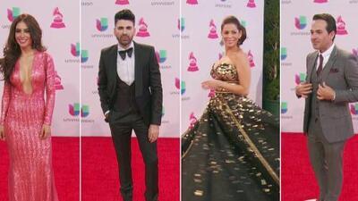 Lourdes, Carlos, Jomari y Jessica brillaron en la alfombra de los Latin Grammy