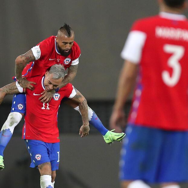 EN VIVO   ¡Edu Vargas le da el empate a Chile!