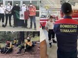 Bomberos mexicanos aterrizaron en suelo estadounidense para apoyar en los incendios de la costa oeste