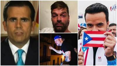 Famosos celebraron la renuncia del gobernador de Puerto Rico, Ricardo Roselló