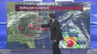 El huracán Florence reduce su velocidad de desplazamiento, pero mantiene su fuerza destructora