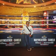 Raul en la pelea de Mayweather VS Canelo