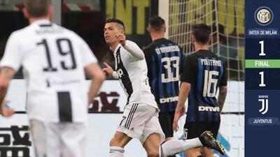 Entre burlas del Inter y el gol 600 de Cristiano, la Juventus consiguió el empate en el Clásico italiano