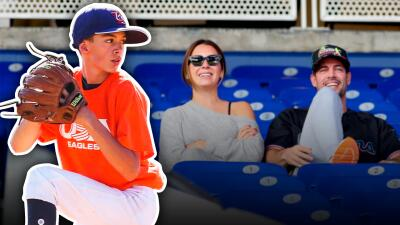 William Levy inicia el año echándole porras a su hijo en un importante partido de béisbol
