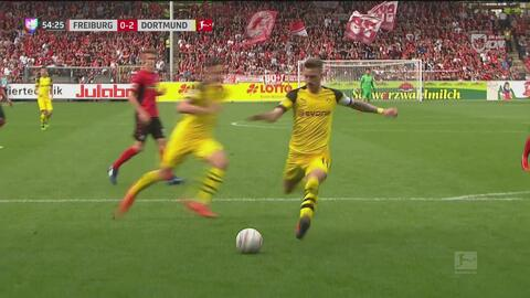 Gran asistencia de Raphael Guerreiro para Marco Reus y cae el 2-0 del Dortmund