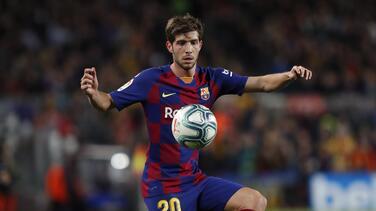 Sergi Roberto se resiente de su lesión y sería baja el resto de la temporada
