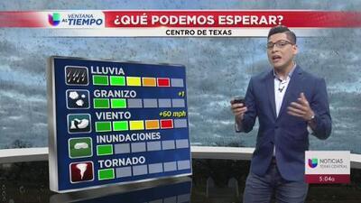 Persiste el riesgo de tiempo severo en el centro de Texas